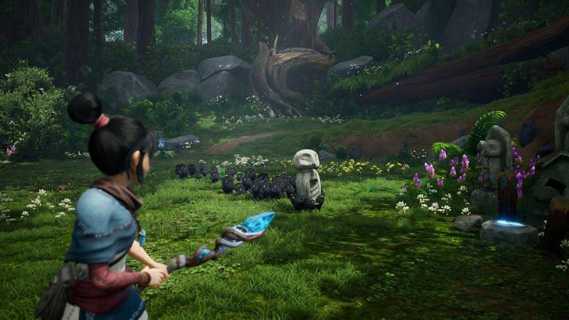 Qena: Spirits Bridge è un'esperienza open world per giocatore singolo (Immagine tramite Ember Lab)