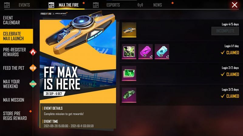 The Celebrate Max Launch event (Image via Free Fire MAX)