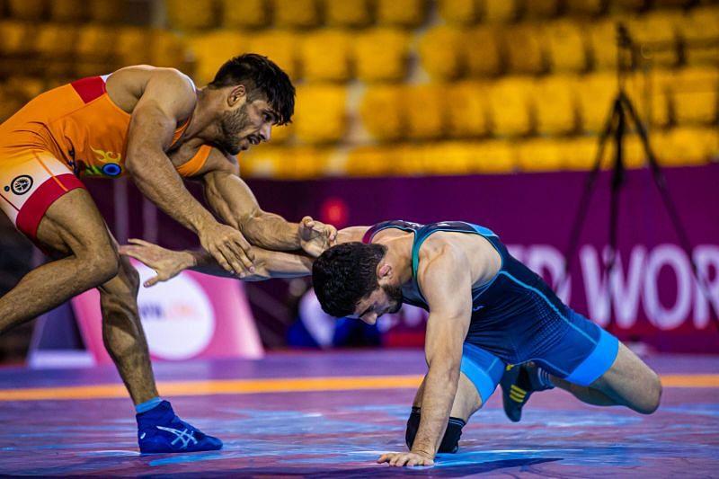 Ravinder Dahiya will compete in 61kg at the world championships. (©UWW)