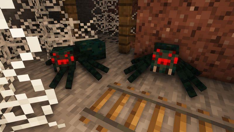 Cave spiders (Image via Minecraft)