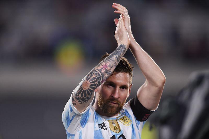 Lionel Messi scored for Argentina against Uruguay