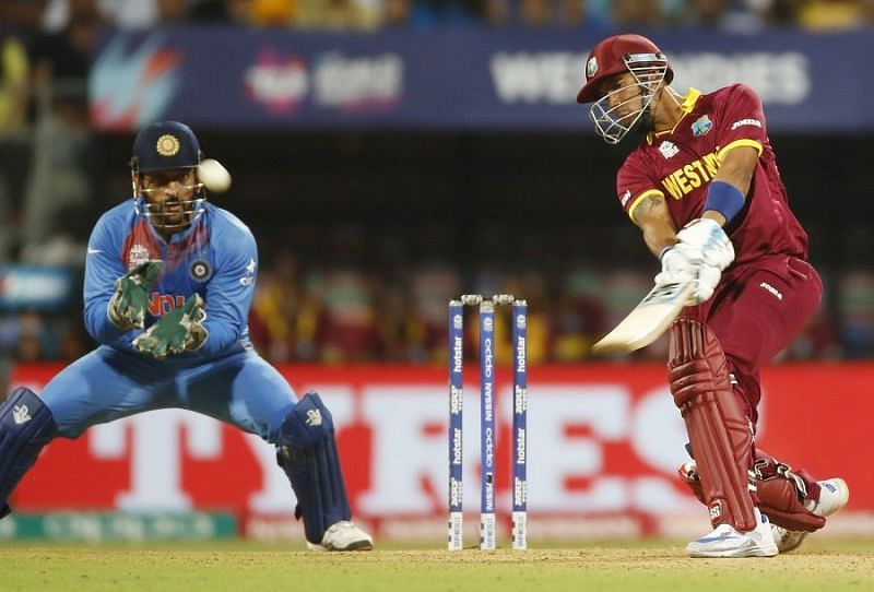 Lendl Simmons blasted an unbeaten 51-ball 82 vs India in the 2016 T20 WC S/F [Image- Getty].
