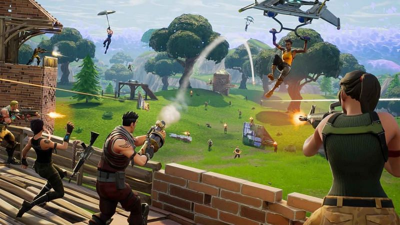 Perform synced emotes in Fortnite Season 8 to get the no-reload glitch (Image via Epic Games)