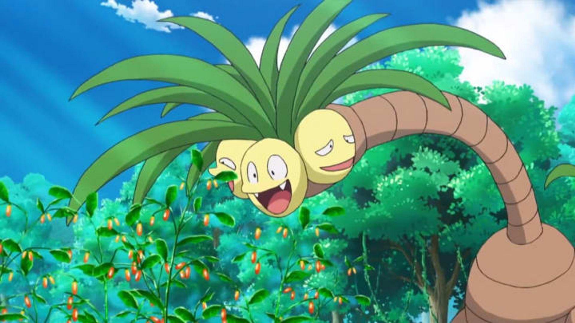 Alolan Exeggutor as it appears in the anime (Image via The Pokemon Company)
