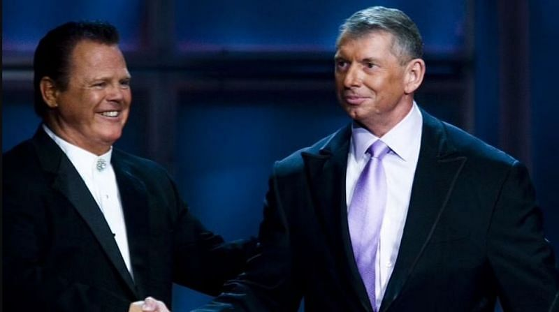 WWE Hall of Famer Jerry Lawler and Vince McMahon