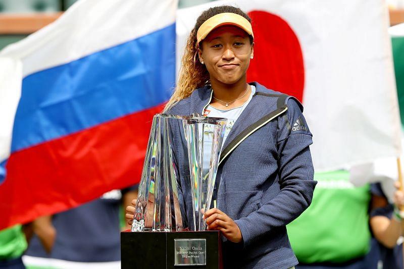 Naomi Osaka's first title was at Indian Wells 2018