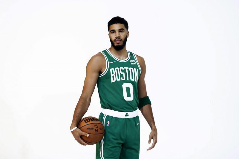 Jayson Tatum (#0) of the Boston Celtics