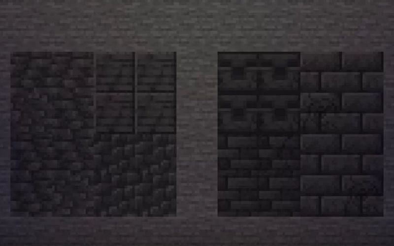 An image of deepslate and its variants in-game (Image via Minecraft)