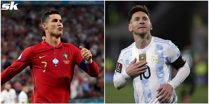 Cristiano Ronaldo (left) and Lionel Messi have scored a lot of hat-tricks in international football.
