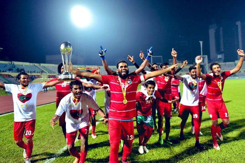 Maldives are the 2018 SAFF Championship winners. (Image: SAFF)