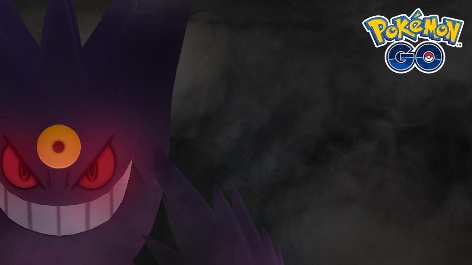 Gengar's Mega Evolution as it appears in Pokemon GO's promotional artwork (Image via Niantic)