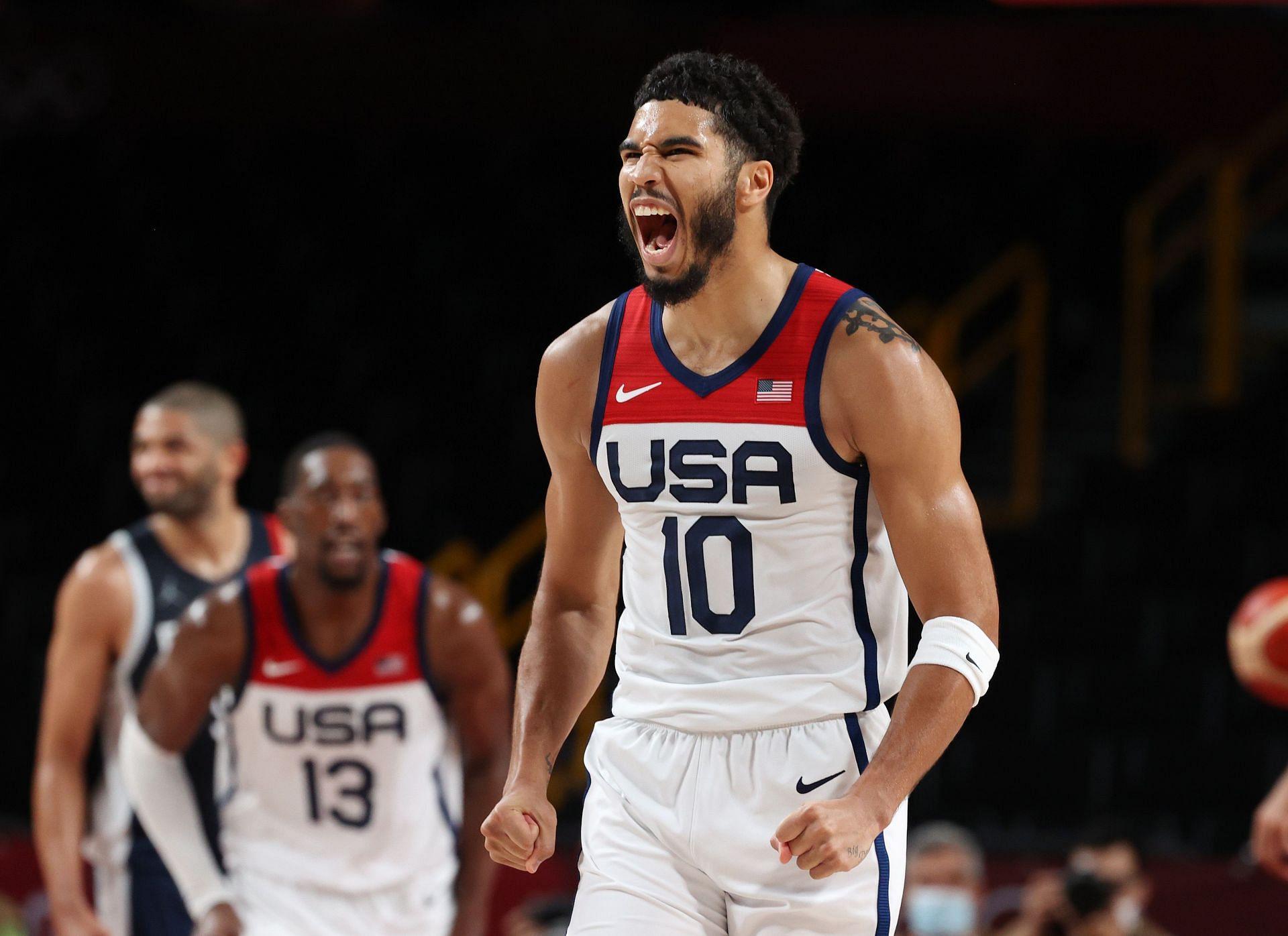 संयुक्त राज्य अमेरिका बनाम फ्रांस पुरुषों की बास्केटबॉल - ओलंपिक: दिन 15