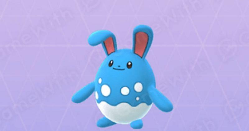 Azumarill as it appears in Pokemon GO (Image via Niantic)