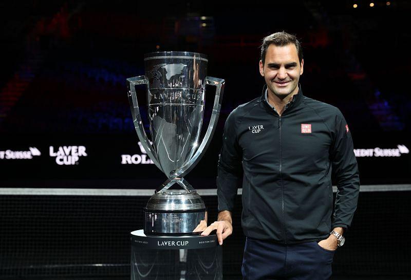 Roger Federer at the Laver Cup 2021