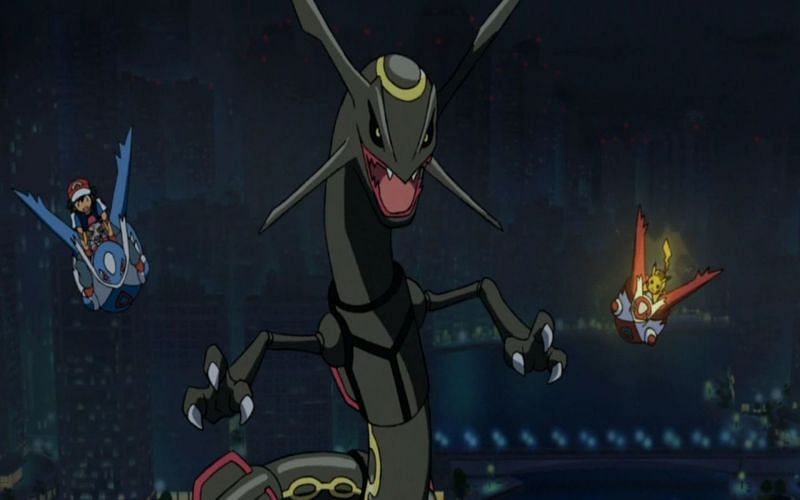 Rayquaza is powerful enough to calm the weather of both Groudon and Kyogre (Image via The Pokemon Company)