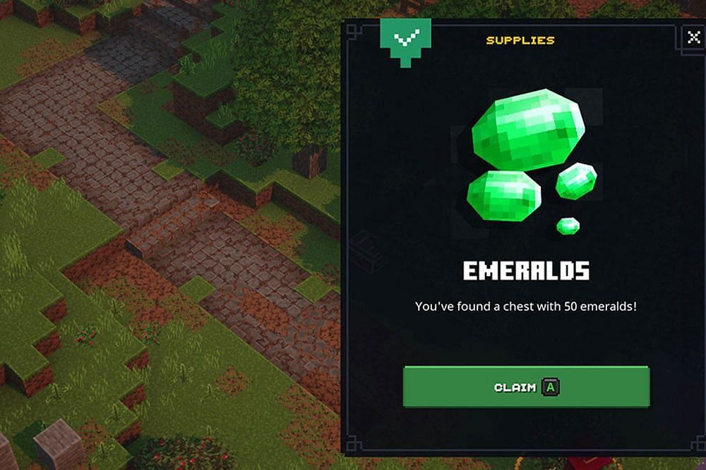Emerald chests are nice, but they can't amount to legitimate emerald farming methods (Image via Mojang)
