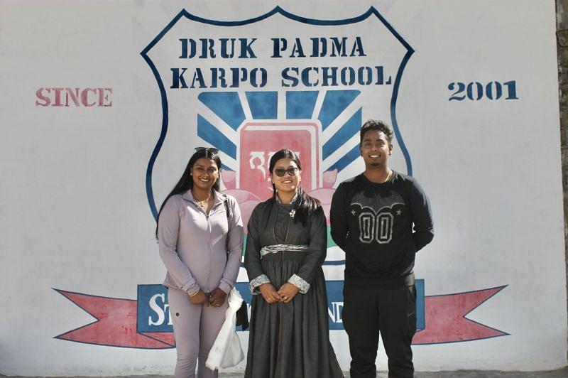 Atanu Das and Deepika Kumari at the Druk Padma Karpo School at Ladakh. (PC: Atanu Das)