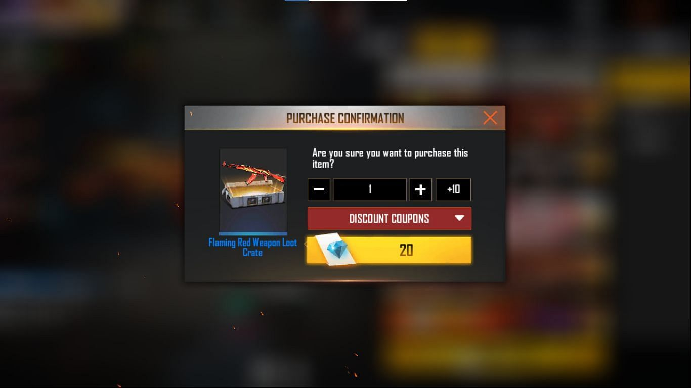 Select the quantity and confirm the purchase (Image via Free Fire)