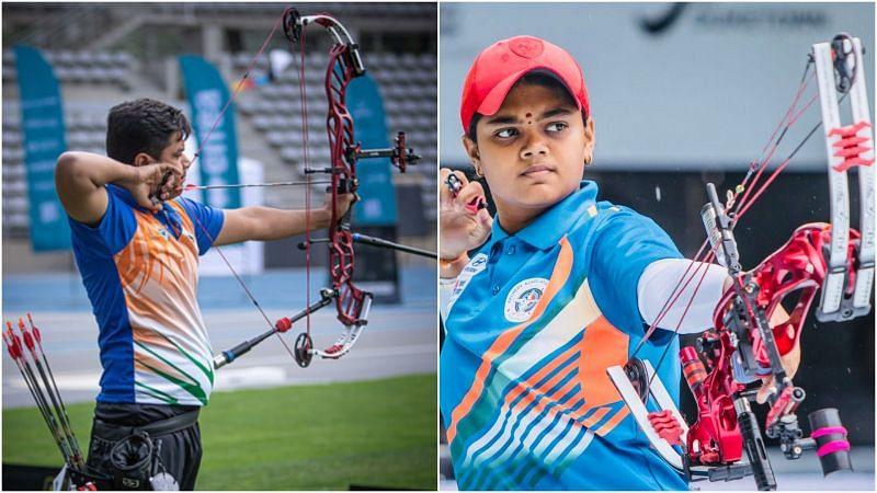 Compound Archers Abhishek Verma and Vennam Jyothi Surekha Vennam in action. (Pic Credit: SAI Media)