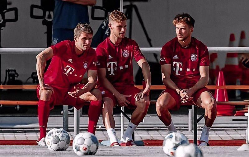 Bayern Munich's german midfield trio (Image via Instagram / @muellert_xo)