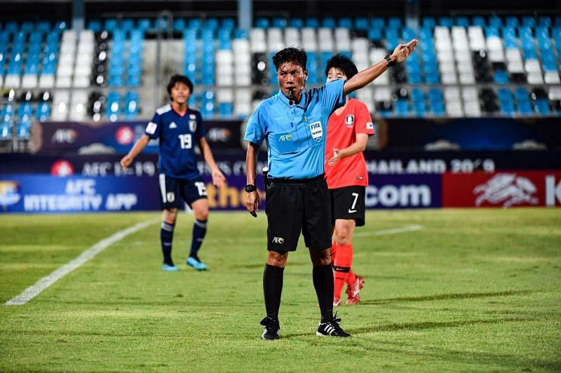 A file photo of Ranjita Devi officiating a match. (PC: FIFA)