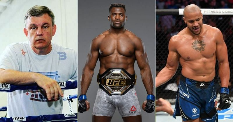 Teddy Atlas (left), Francis Ngannou (middle) and Ciryl Gane (right) [Image credits: @francisngannou. @ufc and @teddy_atlas on Instagram]