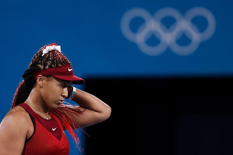 Naomi Osaka during the Tokyo Olympics