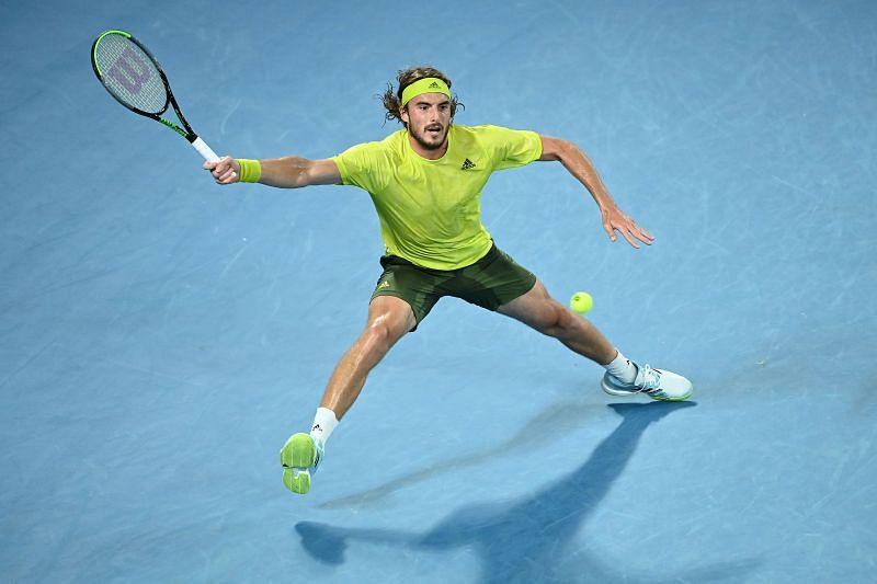 Tsitsipas at the 2021 Australian Open.