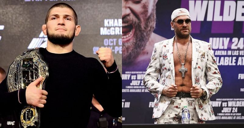 Khabib Nurmagomedov (left) & Tyson Fury (right)