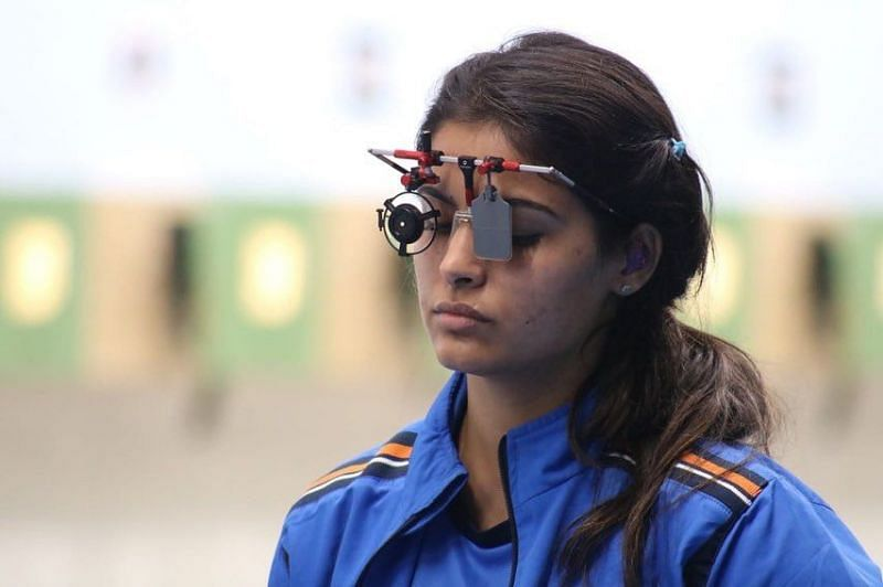 Indian shooter Manu Bhaker at the ISSF World Championships
