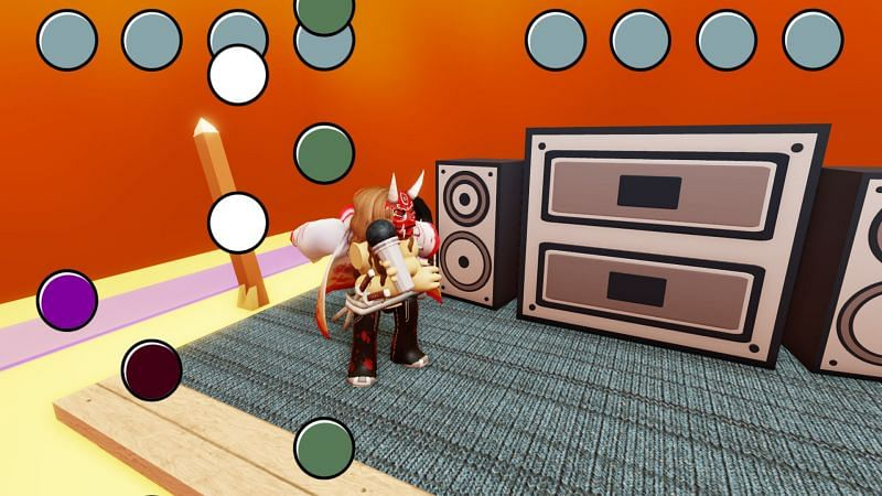Press buttons to the rhythm of the song. (Image via Roblox)