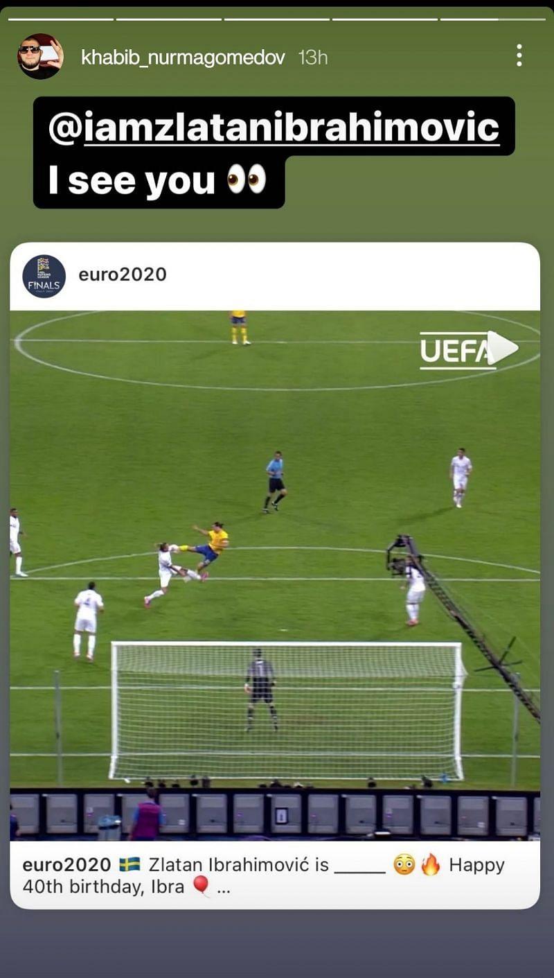 Khabib Nurmagomedov's message to Zlatan Ibrahimovic