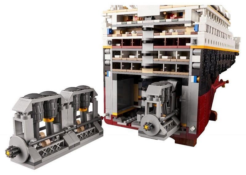 LEGO Titanic-motoren (Afbeelding via LEGO Group)