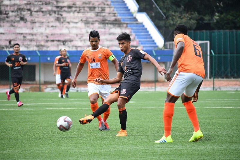 A snap from Madan Maharaj's 1-0 victory over Ryntih SC. (Source: Hero I-League Twitter)