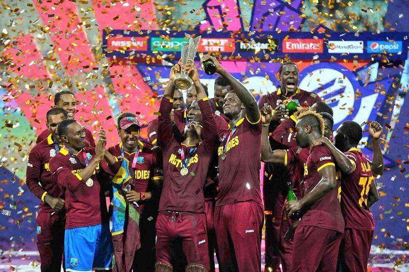 वेस्ट इंडीज ने 2016 में इंग्लैंड को हराकर खिताब जीता था। (क्रेडिट: ट्विटर)