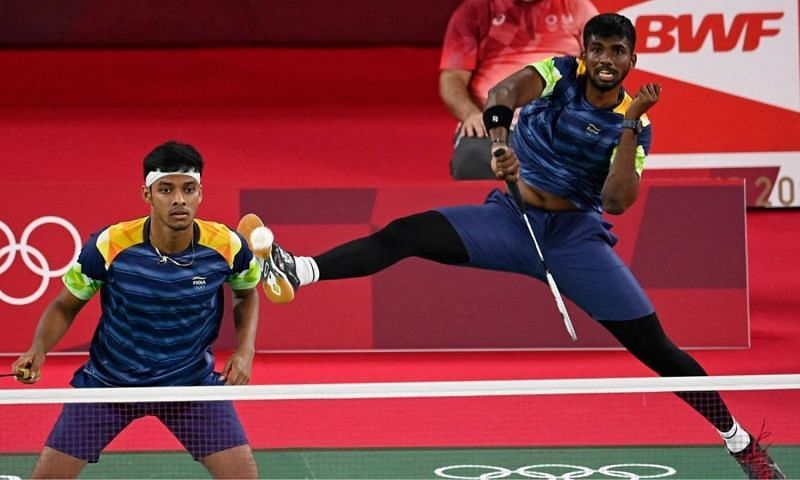 Satwiksairaj Rankireddy and Chirag Shetty (L) signed off in style to complete a 5-0 win over Tahiti