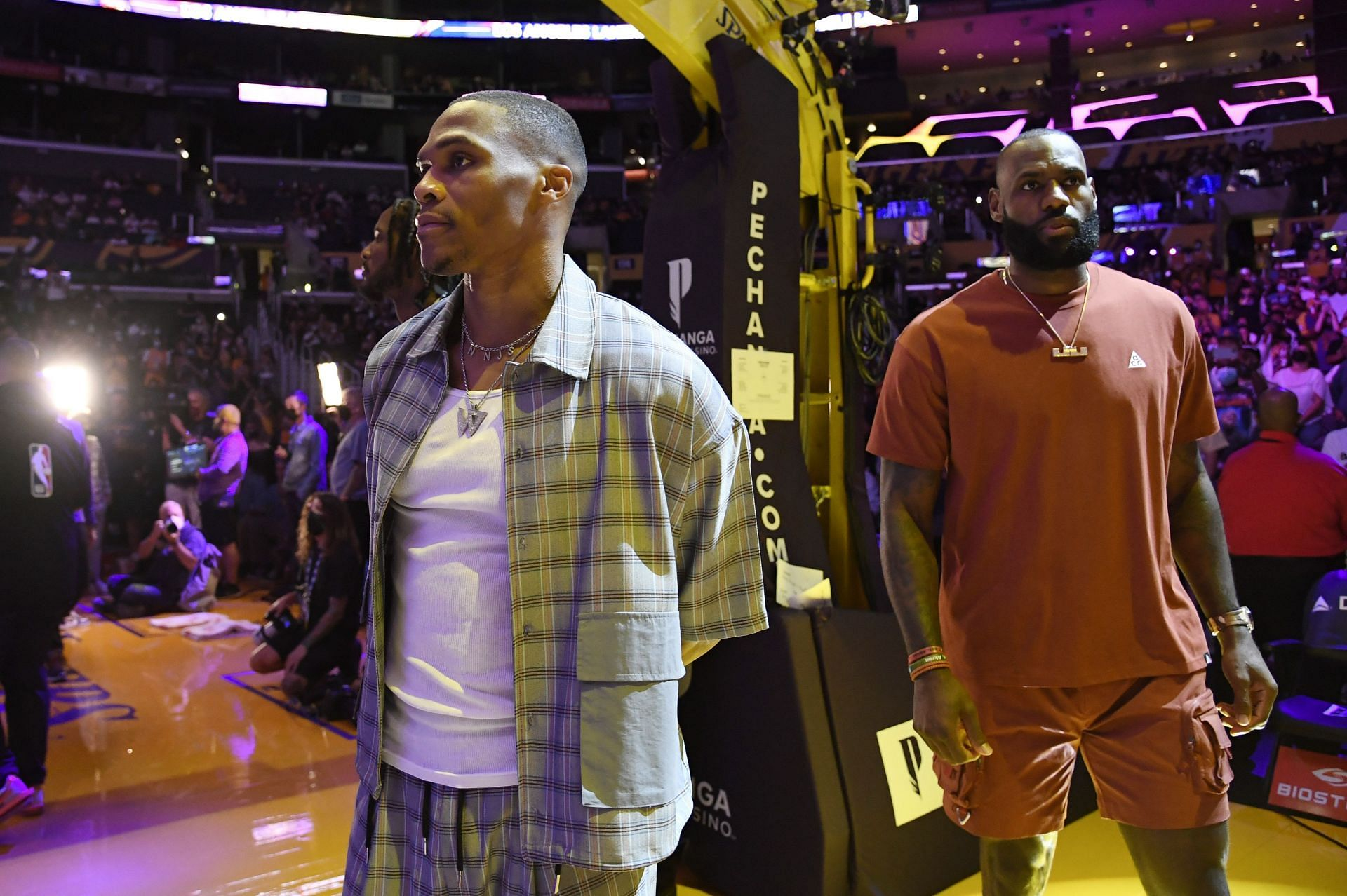 Lakers superstars Russell Westbrook and LeBron James