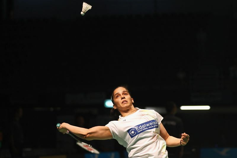 A file photo of Saina Nehwal. The ace Indian shuutler's return to the international circuit started on a whimper as she suffered an injury in her first match.