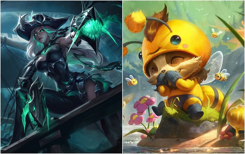 Expect Miss Fortune nerfs and Teemo buffs in League of Legends patch 11.21 (Images via Riot Games)