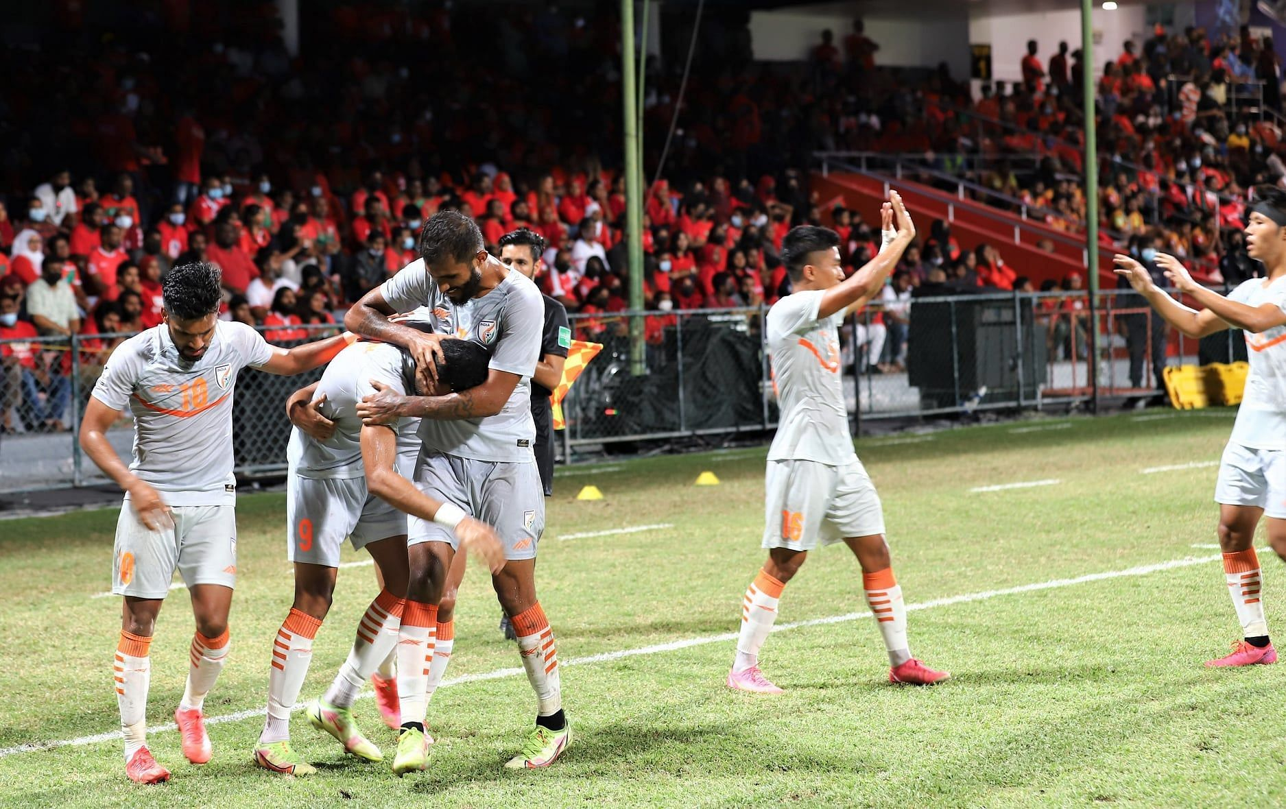 India beat Maldives 3-1 to finish top of the SAFF Championship 2021 standings. (Image: SAFF)