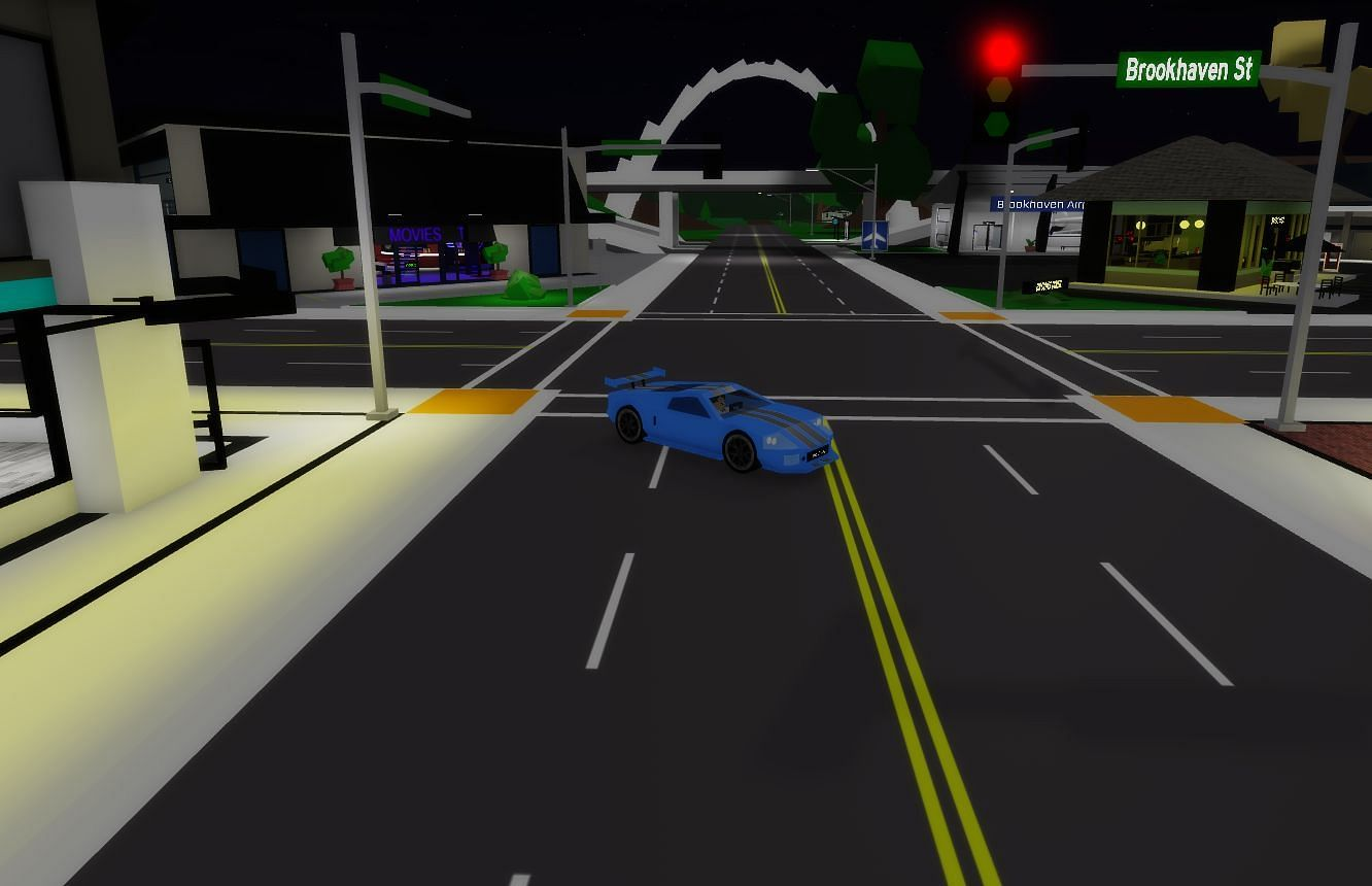 Start at the intersection when you log in (Image via Roblox)