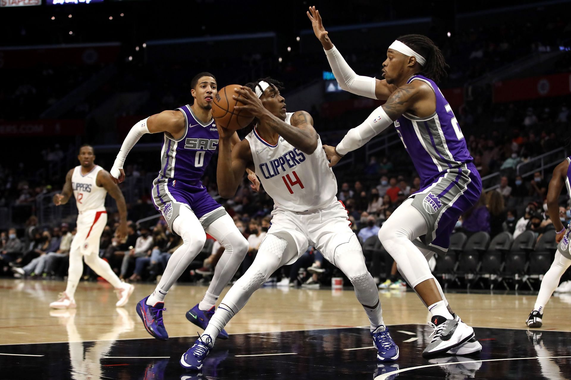 Sacramento Kings in action during a preseason game against the LA Clippers