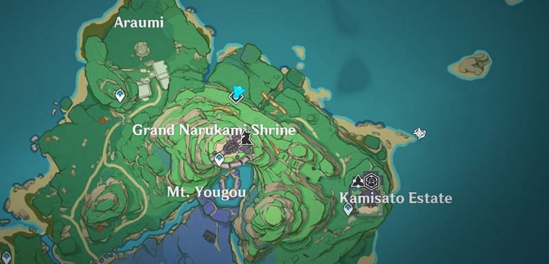 The Court of Flowing Sands domain is located here (Image via Genshin Impact)