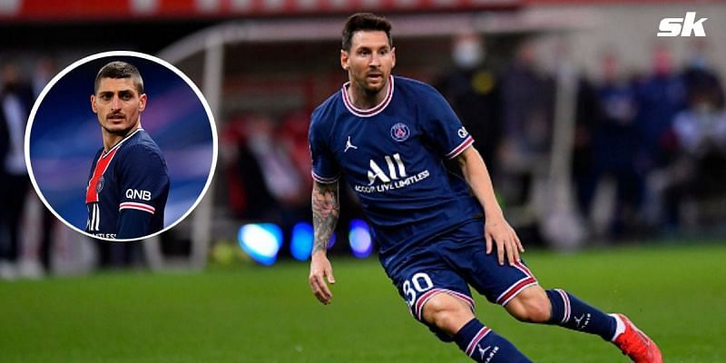 """""""Physically good, even better with the ball at his feet"""" - PSG's Marco Verratti lauds 'greatest player in the world' Lionel Messi"""
