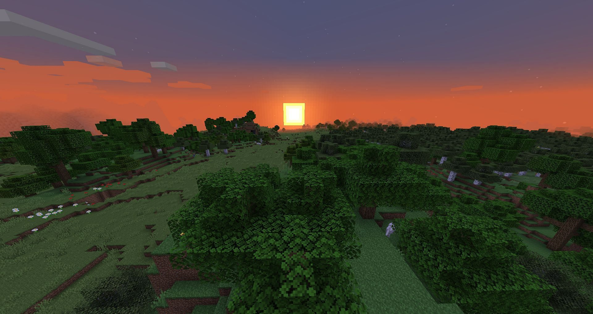 Tick speed controls time, so it can affect the daylight cycle in a Minecraft day (Image via Minecraft)