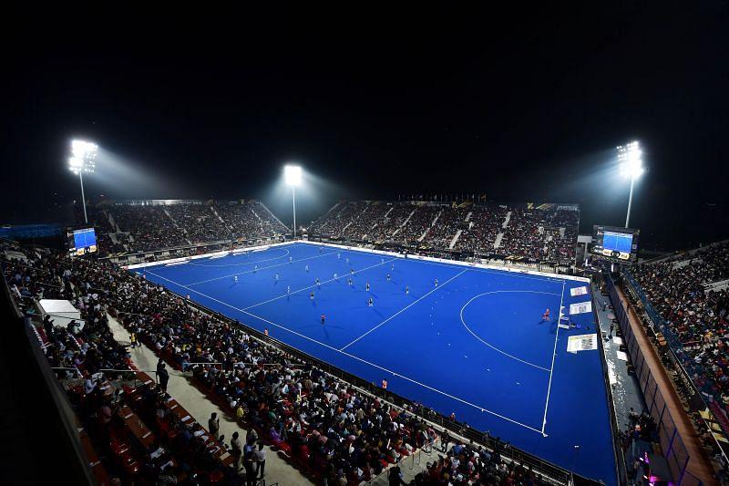 The Kalinga Stadium in Bhubaneshwar will host the Hockey Junior World Cup.
