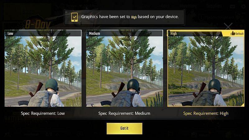 PUBG Mobile Lite graphics settings for smooth gameplay (Image via Krafton)