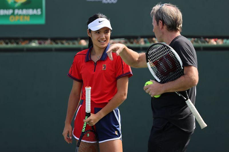 JJeremy Bates traveled with Emma Raducanu to Indian Wells