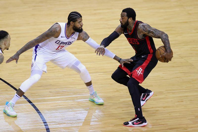 Houston Rockets point guard John Wall with the ball