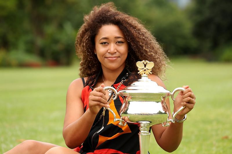 Naomi Osaka with the Australian Open 2021 trophy earlier this year